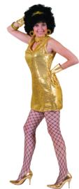 Gouden paillettenjurk