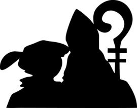 Raamfolie Grote Sint en Piet