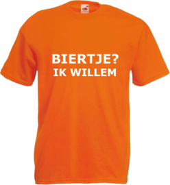 Shirt oranje Biertje? Ik willem