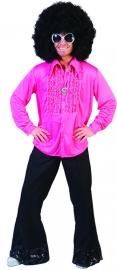 Disco ruche blouse roze