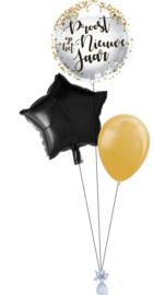 Ballonnentros Proost op het nieuwe jaar Klein