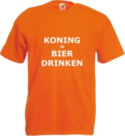 Shirt oranje Koning in Bier drinken