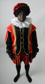 Piet rood zwart met rode cape