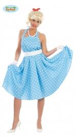 Sandy blauw-witte jurk