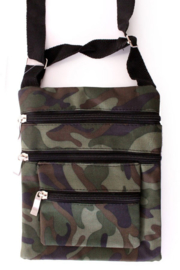 Tas leger camouflage 3 ritsen