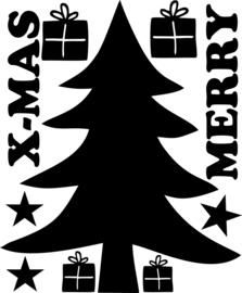 Raamfolie Grote Kerstboom