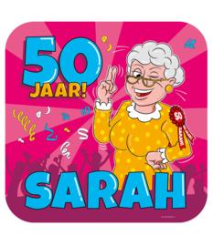 Huldeschilde Sarah 50 jaar