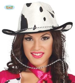 Cowboy hoed met koeienprint