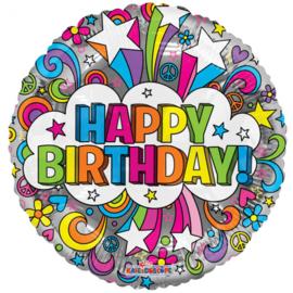 Folieballon Happy Birthday groovie