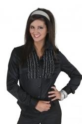 Disco ruche blouse zwart