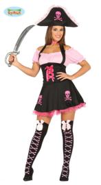 Roze piratenvrouw