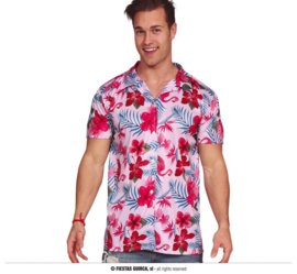Hawaii blouse tropical flamingo