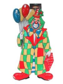 Wanddeco clown met ballonnen