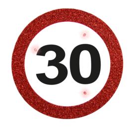 Verkeersbord button 30 jaar