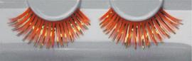 Wimpers oranje met goud