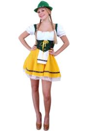 Tirolerjurk geel/groen