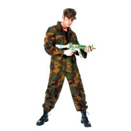 Leger overall met camouflage kleuren