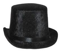 Luxe hoge hoed, zwart
