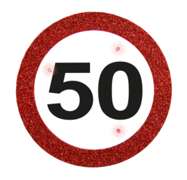 Verkeersbord button 50 jaar
