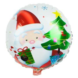 Folieballon Kerstman met Kerstboom