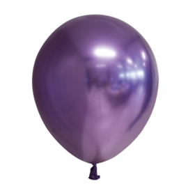 Ballon paars chrome