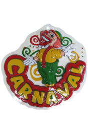 Wanddeco clown carnaval