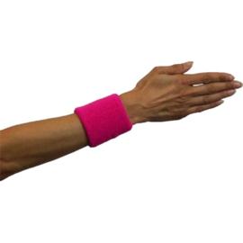 Polsband neon roze