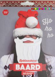 Sinterklaas of Kerstman opblaas baard