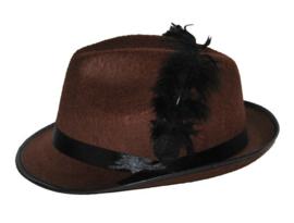 Bruine oktoberfest hoed