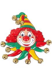 Wanddeco clown rood, geel en groen