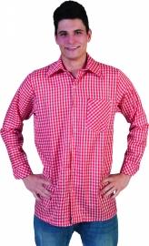 Rood wit geblokte blouse