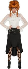 Steampunk lange rok, zwart