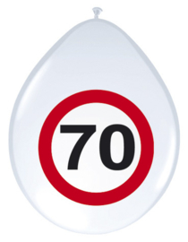 Verkeersbord ballonnen 70 jaar