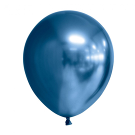 Ballon blauw chrome