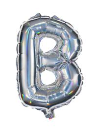 Zilveren Letter Folie Ballon B