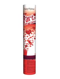 Party love, hartjes confetti schieter