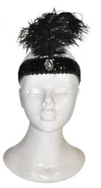 Charleston haarband zwart