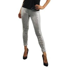 Zilveren legging met pailletten