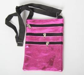 Festival tas in het holografisch roze, blauw en rose gold