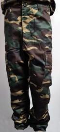 Leger broek met camouflage print volwassenen