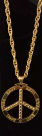 Gouden Ketting Peace