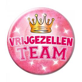Button XL Vrijgezellen team roze