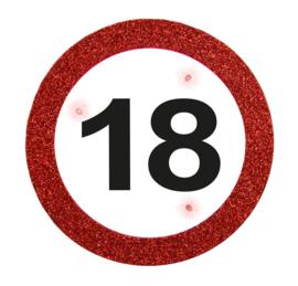 Verkeersbord button 18 jaar