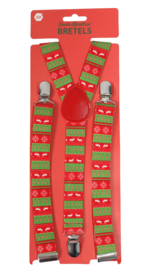 Foute Kersttrui bretels