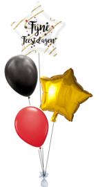 Ballonnentros Fijne Feestdagen Klein