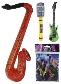 muziekinstrumenten: gitaar, saxofoon of microfoon