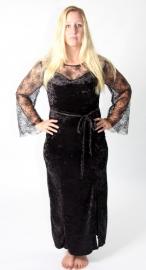 Zwarte spinneweb jurk