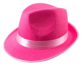 Maffia hoed in roze, geel of groen