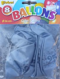 Ballonnen cijfer 25 zilver