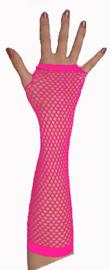 Handschoenen lang, roze